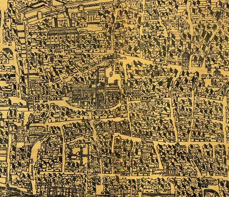 Vintage London Map 1560 Fabric Janinez Spoonflower