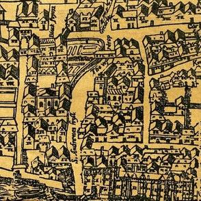 Vintage London Map 1560