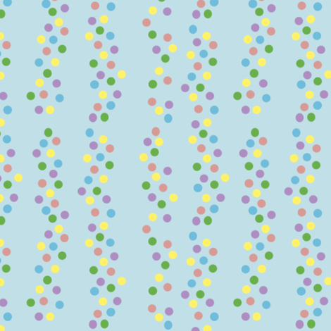 Rainbow_Spots_Blue fabric by karwilbedesigns on Spoonflower - custom fabric