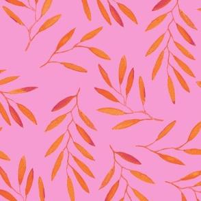 willow - Orange & Pink