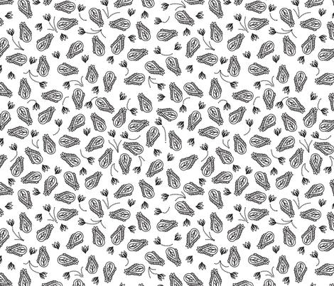 Black and White Paisley fabric by zaramartina on Spoonflower - custom fabric