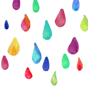 Rainbow Rain Drops