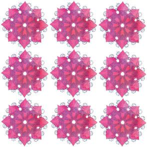 Pink Flower Mandala Tiles