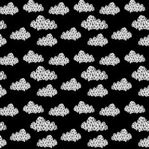 geo clouds // cool scandi mini clouds print