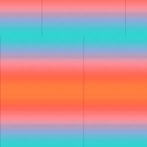 gradient turquoise and orange sunset