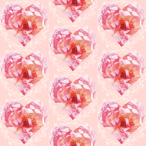 Hearts Romance fabric by ann_aveyard on Spoonflower - custom fabric