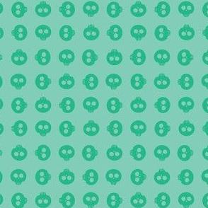 Mint Skull Grid