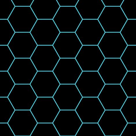 Hexagons Neon fabric by vannina on Spoonflower - custom fabric