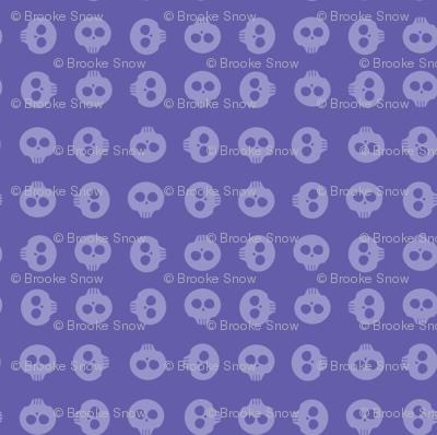 Periwinkle Skull Grid