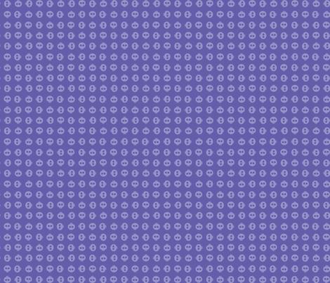 Periwinkle Skull Grid fabric by surlysheep on Spoonflower - custom fabric