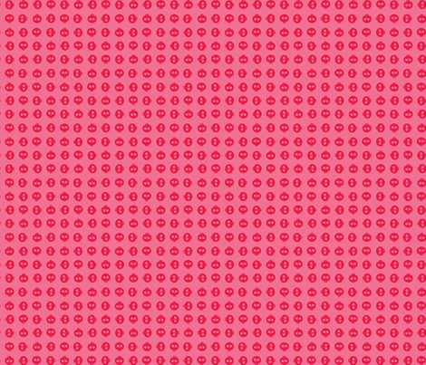 Watermelon Skull Grid fabric by surlysheep on Spoonflower - custom fabric