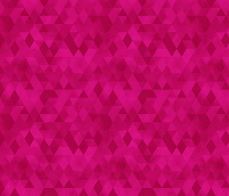 Watercolour Polygonal Triangles - Magenta fabric by samalah on Spoonflower - custom fabric