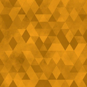 Watercolour Polygonal Triangles - Yellow
