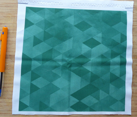 Watercolour Polygonal Triangles - Jade