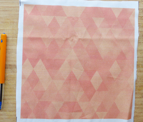 Watercolour Polygonal Triangles - Peach