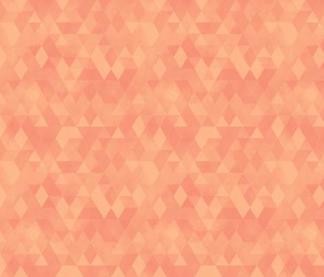 Watercolour Polygonal Triangles - Peach fabric by samalah on Spoonflower - custom fabric