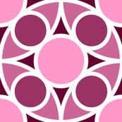 R4X circle mix : blackcurrant pink maroon