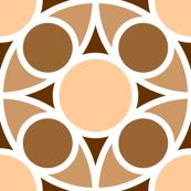 R4X circle mix : flesh fawn brown