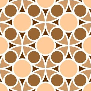 05554219 : R4 circle mix : flesh fawn brown