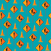Construction Signs & Cones - Blue
