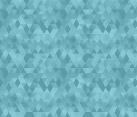 Watercolour Polygonal Triangles - Baby Blue fabric by samalah on Spoonflower - custom fabric