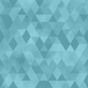 Watercolour Polygonal Triangles - Baby Blue