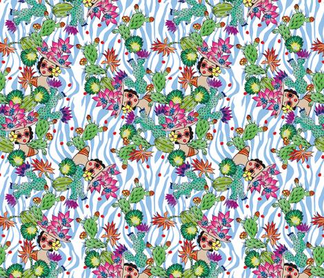 Cactus Pool fabric by mojitomaid on Spoonflower - custom fabric