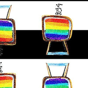 color rainbow tv with braille antenna