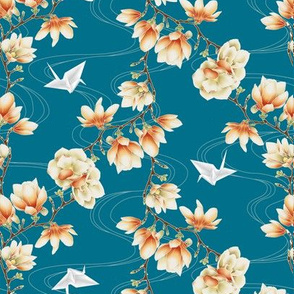 Japanese magnolias-blue