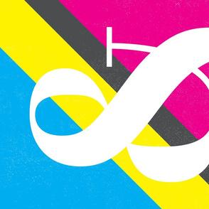 Graphic Design Tea Towel - CMYK - Ampersand