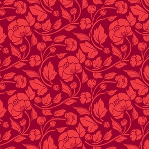 Small Blooms - Crimson