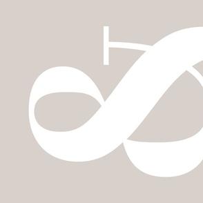 Graphic Design Tea Towel - Light Gray - Ampersand