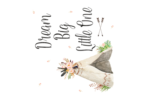 Dream Big Little One Quote fabric by shopcabin on Spoonflower - custom fabric