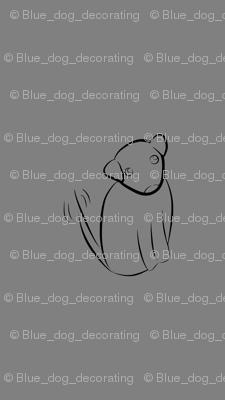 Wagging Dog in Dark Grey