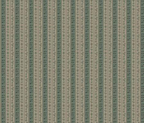 Charcoal and Green Hop Stripes on Old Linen fabric by a_bushel_of_hops on Spoonflower - custom fabric
