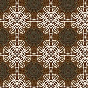 Earthtone Reverse Outline Calligraphic Knots