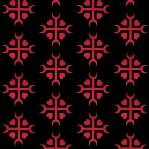 Heart Hex Pattern