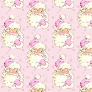 Hi Santa Light Pink Med size Christmas