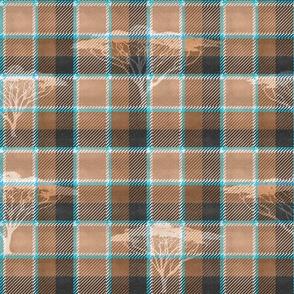 Wild Tartan Background (Tan)