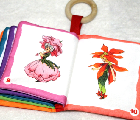 FLOWER CHILDREN Soft cloth rainbow book
