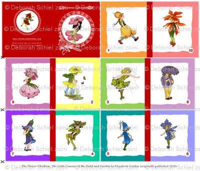 FLOWER CHILDREN Soft cloth rainbow book