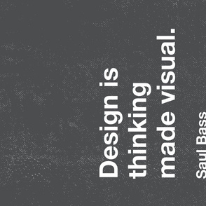 Graphic Design Tea Towel - M - Saul Bass