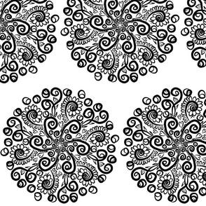 Project 64 | Mandala  | Black and White