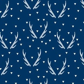 antler triangles // navy blue kids baby nursery boys cute navy blue kids nursery