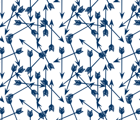 arrows // navy blue arrow kids boys room boys arrows navy blue  fabric by andrea_lauren on Spoonflower - custom fabric