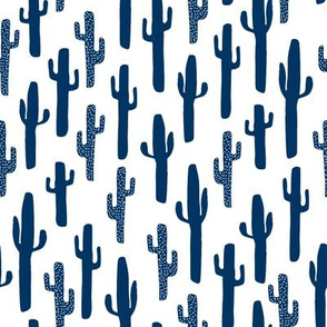 cactus // kids cactus desert southwest cute boys room arizona navy blue cactus texas fabric for boys room