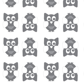 Gray_and_White_Owl_Pattern_