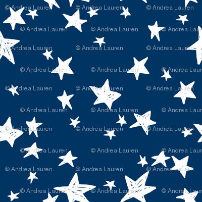 stars // navy blue stars kids nursery baby