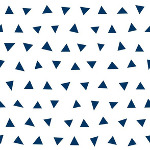 triangles // navy blue coordinate navy blue triangles simple tri kids nursery baby boys room