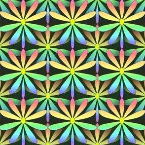 Dotty Rainbow Flower